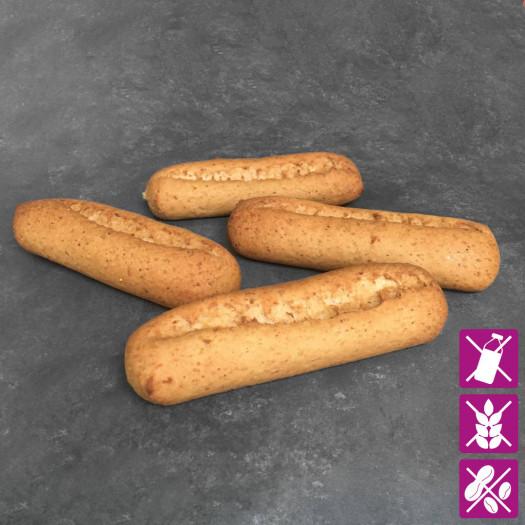 Braune Baguettebrötchen Glutenfrei zum Aufbacken